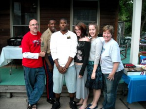 a pix of the family including \