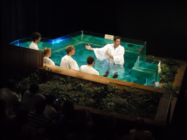 two new followers taking the dip after the post worship
